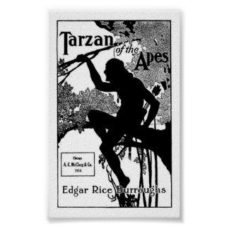 Tarzan of the Apes Edgar Rice Burroughs Poster