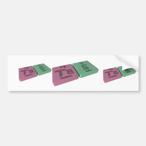 Tas as Ta Tantalum and S Sulfur Bumper Stickers