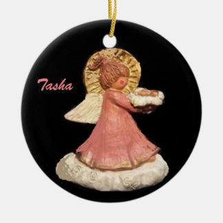 TASHA-GUARDIAN ANGEL PONYTAIL CHORUS ORNAMENT