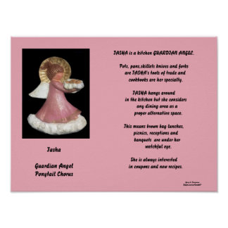 TASHA-GUARDIAN ANGEL PONYTAIL CHORUS POSTER
