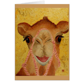 """Tasha"" the cute Camel Card"