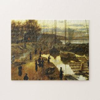 Tashlikh - Painting by Alexander Gierymski - 1884 Jigsaw Puzzle