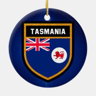 Tasmania Flag Ceramic Ornament