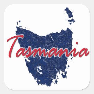 Tasmania Square Sticker