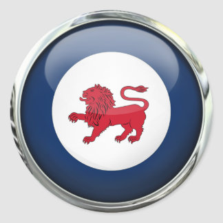 Tasmania State Flag Glass Ball Classic Round Sticker