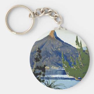 Tasmania ~ Switzerland of the South Basic Round Button Key Ring