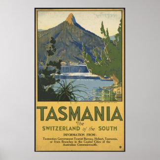 Tasmania Vintage Travel Poster Ad Retro Prints