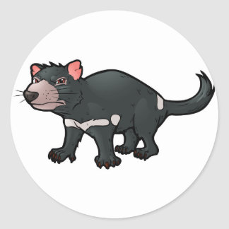 Tasmanian Devil Classic Round Sticker