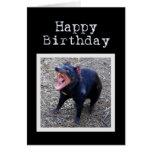 Tasmanian Devil Happy Birthday Greeting Card