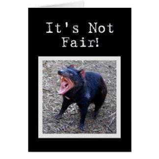 Tasmanian Devil Happy Birthday Humor Card