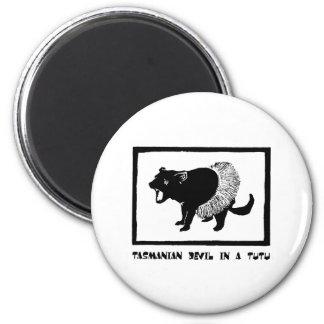 Tasmanian Devil in a Tutu 6 Cm Round Magnet