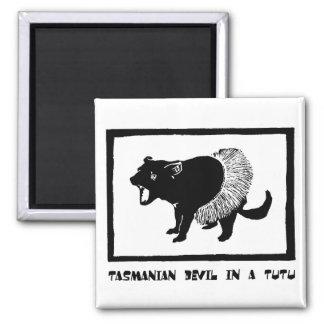 Tasmanian Devil in a Tutu Magnet