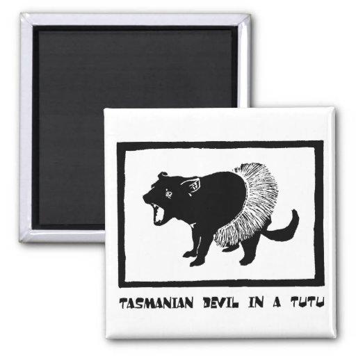 Tasmanian Devil in a Tutu Magnets