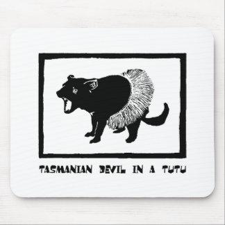 Tasmanian Devil in a Tutu Mouse Pad
