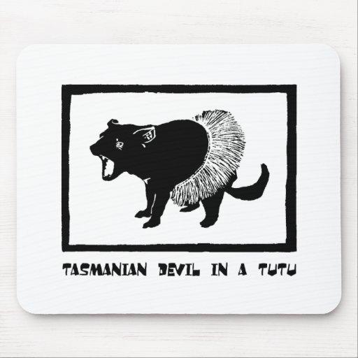 Tasmanian Devil in a Tutu Mouse Pads