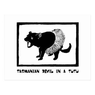 Tasmanian Devil in a Tutu Postcard