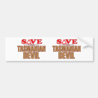 Tasmanian Devil Save Bumper Sticker