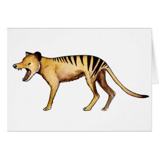 Tasmanian tiger, Thylacine Card