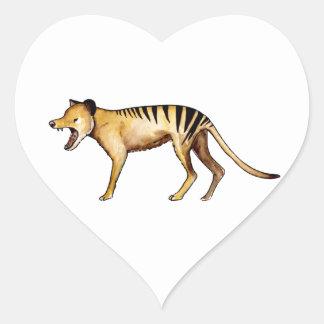 Tasmanian tiger, Thylacine Heart Sticker
