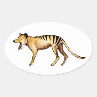 Tasmanian tiger, Thylacine Oval Sticker