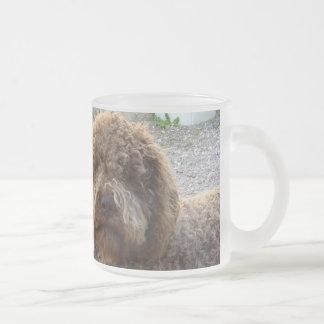 tasse givrée avec photo de lagotto-romagnolo frosted glass coffee mug
