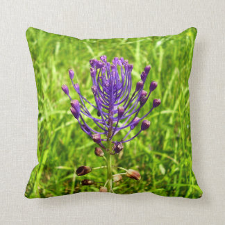 Tassel-Hyacinth Throw Cushion