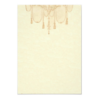 Tassles in Gold Stationery 13 Cm X 18 Cm Invitation Card