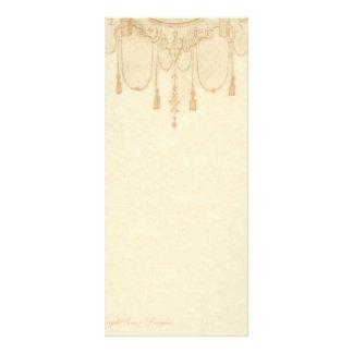 Tassles in Gold Stationery Rack Card Design