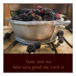 Taste And See How Very Good The Lord Is Print