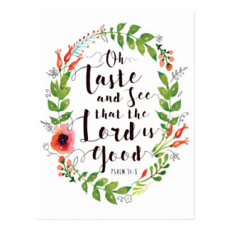 Taste and See the Lord is Good Postcard