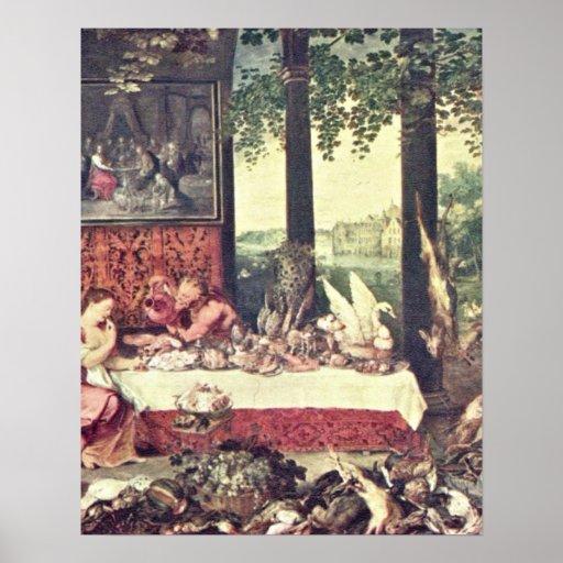 Taste by Jan Brueghel the Elder Print