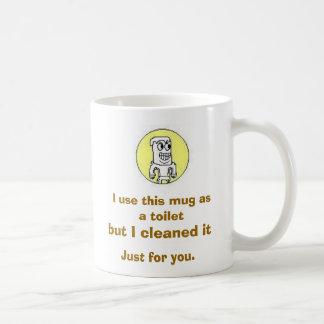 Taste the toilet. basic white mug
