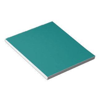 Tastefully Sophisticated Teal Color Notepad