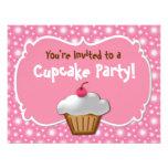 Tastey Frosted Cupcake Custom Invitations