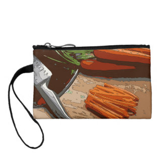 Tasty Carrots Onions and Celery Chopped Up Coin Purses