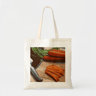 Tasty Carrots Onions and Celery Chopped Up Canvas Bags