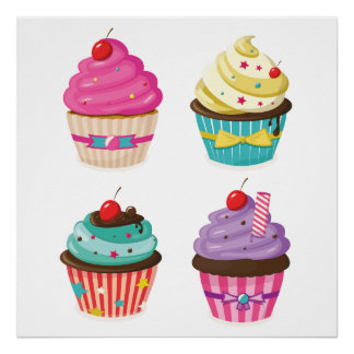 Tasty Cupcakes Poster