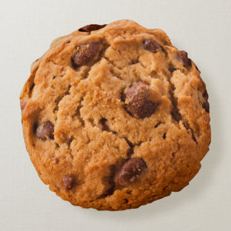 Tasty Giant Chococlate Chip Cookie Round Cushion