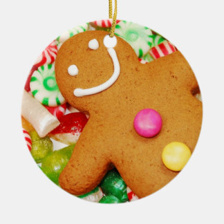 Tasty gingerbread man christmas ornament