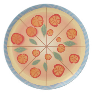 Tasty Margarita Pizza party Party Plates