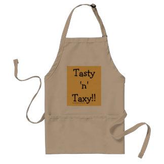 Tasty 'n' Taxy! Tax Words Slogan Standard Apron