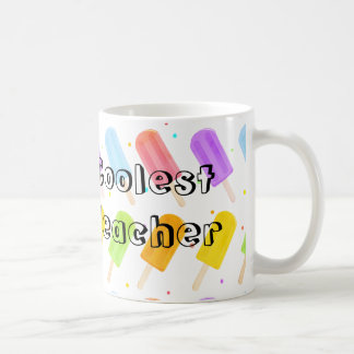 Tasty Summer Popsicle Pattern Teacher Gift Coffee Mug