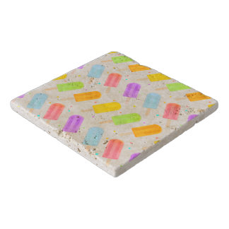 Tasty Summer Watercolour Popsicle Pattern Trivet