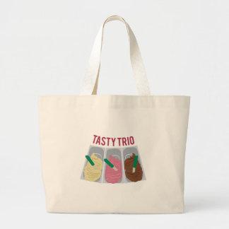 Tasty Trio Jumbo Tote Bag