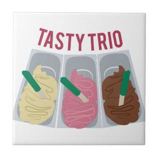 Tasty Trio Small Square Tile