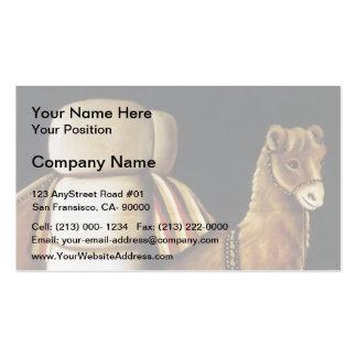 Tatar Camel Driver by Niko Pirosmani Business Card Templates
