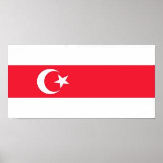 Tatars Of Belarus, ethnic flag Print