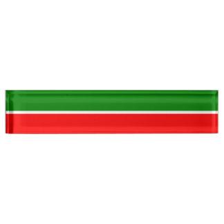 Tatarstan Flag Name Plate