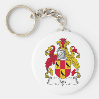 Tate Family Crest Key Ring