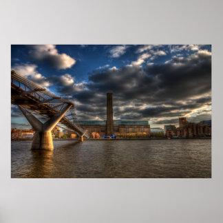 Tate Modern and Millennium Bridge Poster